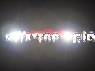 Mellisa Rose exclusive shoulder rose tattoo