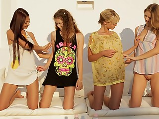 Four super cute 18 year old teens. All natual