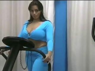 Curvy pornstar Reggina shows off and masturbates