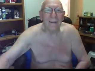 Grandpa cum on webcam 7