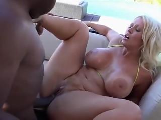Massive BIG BLACK COCK Fucking MILF With MASSIVE BOOBS