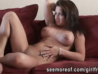 Big tits amateur girlfriend fucked and mouthful of cum