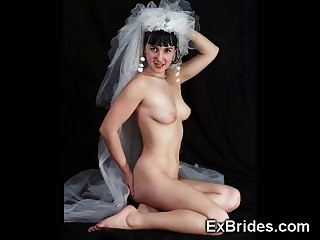 Scenes of brides getting nailed after the wedding by