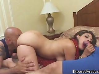 Nice Arab girl gets fucked doggystyle