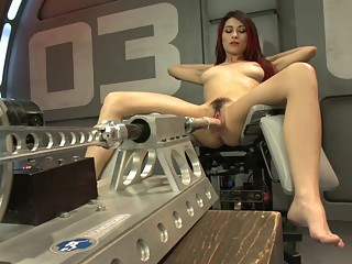 Raven Rockette gets fucked by a robot