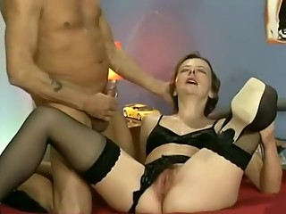 Hottest Stockings, Hairy porn scene