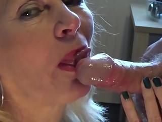Mature blonde blowjob