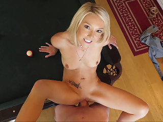 Pool table pounding with a MILF