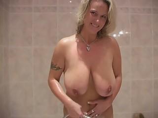 Busty Mom In The Bathroom
