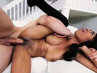 Horny blonde playgirl enjoying big 10-pounder fuck