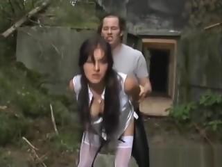 Hottest pornstar in crazy brunette, public xxx video
