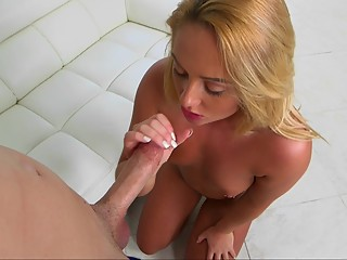 Stunning blonde for a hot rod