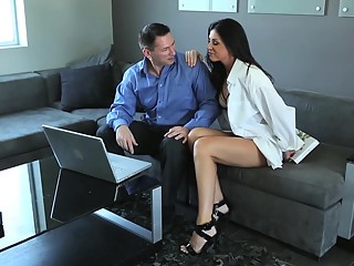 Beautiful couples sharing an erotic moment together