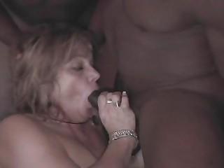 Chubby Slut Wife Gets Gangbanged by 4 Big Black Cocks chunk2of4.elN
