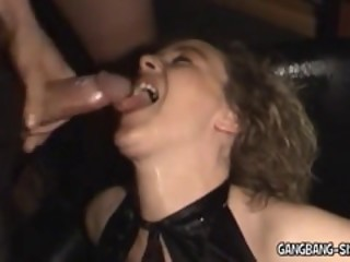 Amateur Bukkake and Gangbang Wife