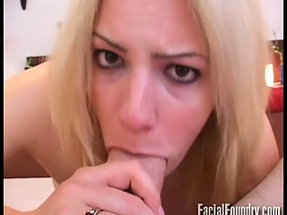 Blowjob and facial cumshot compilation