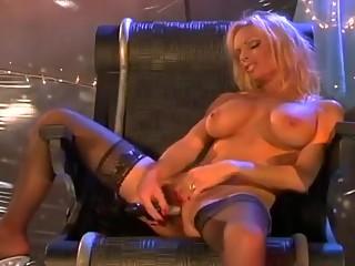 Blonde Fucks Firm Beaver With Vibrator