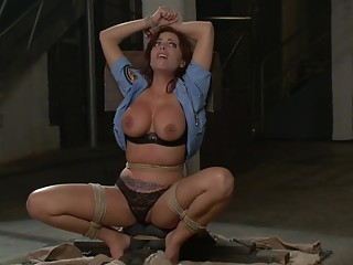 Britney Amber gets tied tight and fucked hard