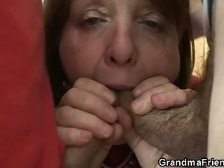 Old bitch takes it from both ends