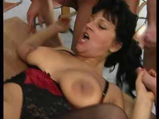 Mature teacher gangbang