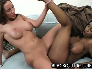 Kelly Divine and Sandi Jackmon - Busty Interracial Lesbian