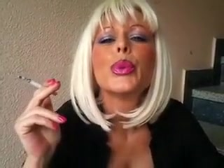 Horny amateur Smoking, Blonde sex movie