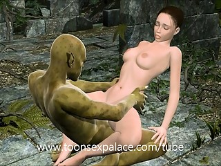 Jungle Girl 3D Fucking