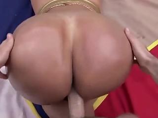 Big booty Latina enjoys a hot POV fuck