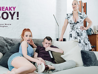 Ella Hughes & Rebecca Moore in Sneaky Boy! - StepmomLessons