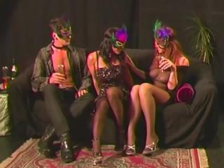 Impressive horny women hidden behind the covers