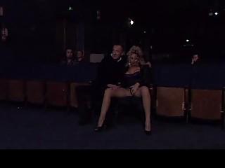 Alessandra Schiavo is sucking strangers' cocks in cinema