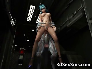3D animated creatures are fucking these different babes in