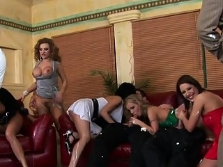 Juicy pussy feast at an lesbian sex party