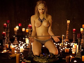 Naked witch and the sacred sword