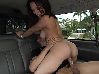 Big ass babe gets fucked on our bus
