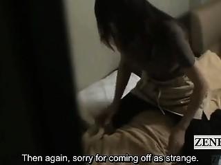 Subtitled Japanese hotel massage milf audacious request