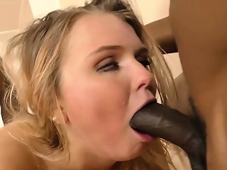 Melissa May fucks black dudes in front of her father