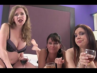 Three women humiliate him with countdown JOI
