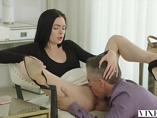 VIXEN Marley Brinx Cheats With Boss Huge Cock